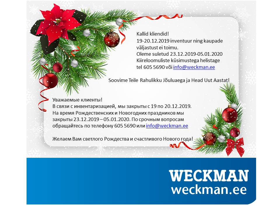 weckman orima pühad